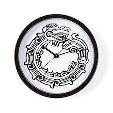 Aztec Ouroboros Symbol Wall Clock