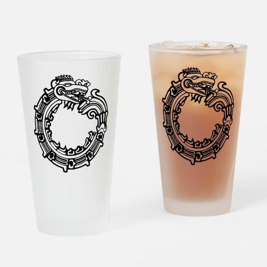 Aztec Ouroboros Symbol Pint Glass