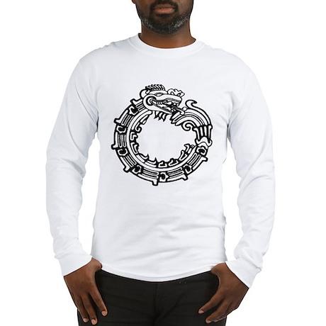 Aztec Ouroboros Symbol Long Sleeve T-Shirt