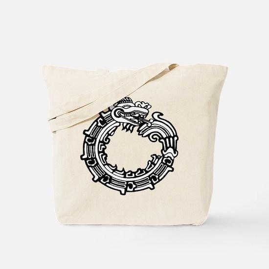 Aztec Ouroboros Symbol Tote Bag