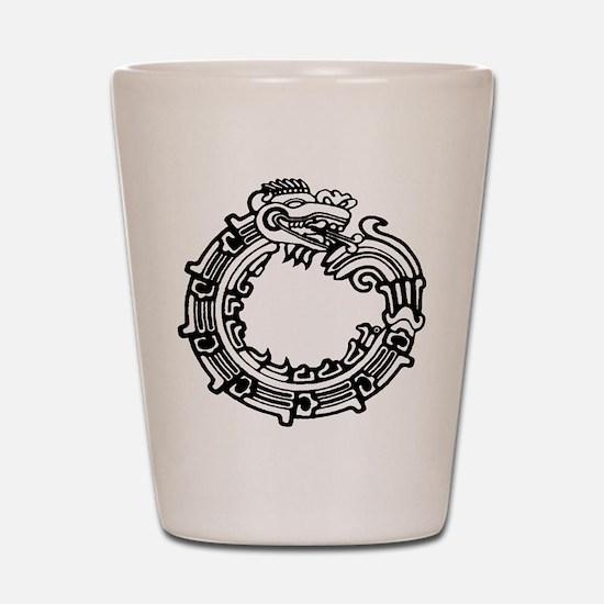 Aztec Ouroboros Symbol Shot Glass