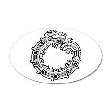 Aztec Ouroboros Symbol 22x14 Oval Wall Peel