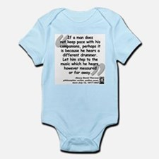 Thoreau Drummer Quote Infant Bodysuit
