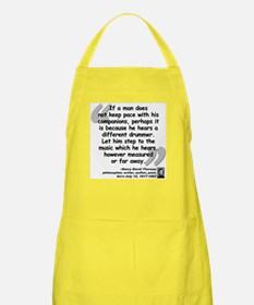 Thoreau Drummer Quote Apron