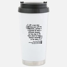 Thoreau Drummer Quote Travel Mug