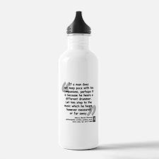 Thoreau Drummer Quote Water Bottle