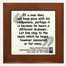 Thoreau Drummer Quote Framed Tile
