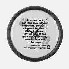 Thoreau Drummer Quote Large Wall Clock