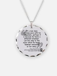 Thoreau Drummer Quote Necklace