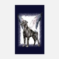 Great Dane Angel Black UC Rectangle Decal