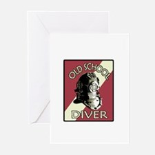 OLD SCHOOL DIVER Greeting Cards (Pk of 20)