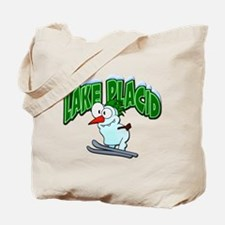 Lake Placid Skier Tote Bag