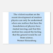 werner heisenberg quotes Postcards (Package of 8)