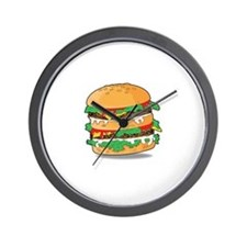 Cartoon Hamburger Wall Clock