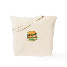 Cartoon Hamburger Tote Bag