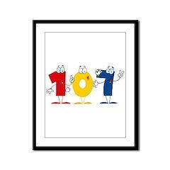 Happy Number 107 Framed Panel Print