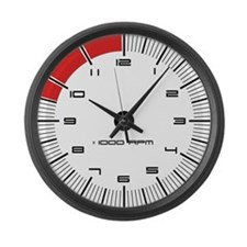 Porsche Carrera Tachometer Large Wall Clock