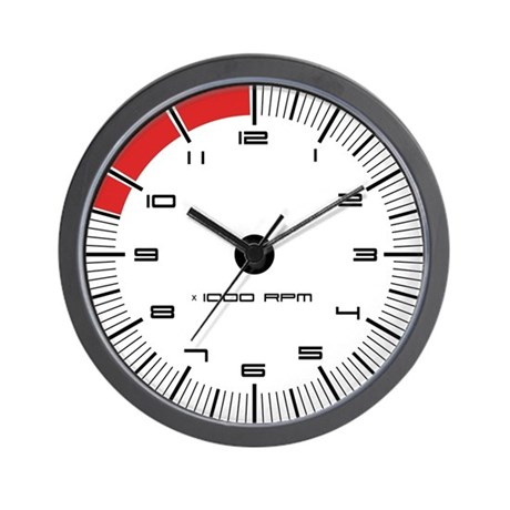 Porsche Carrera Tachometer Wall Clock