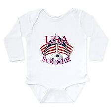 USA Soccer Long Sleeve Infant Bodysuit