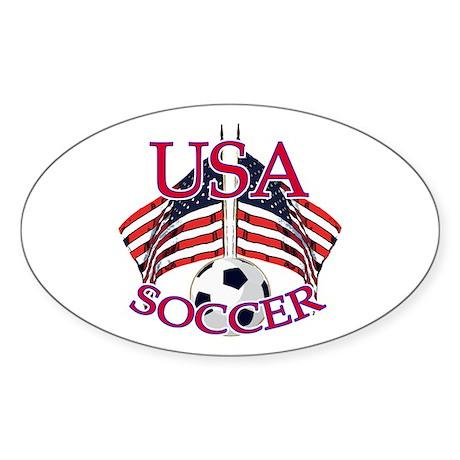 USA Soccer Sticker (Oval 10 pk)