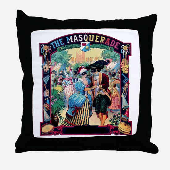 Masquerade Ball Throw Pillow