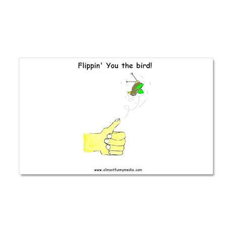 Flippin' the Bird Car Magnet 12 x 20