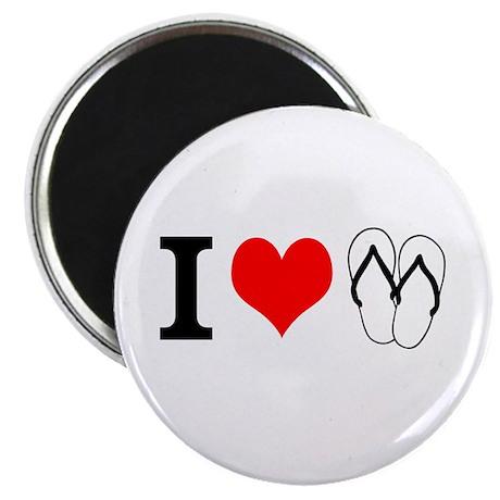 I Heart Flip Flops Magnet