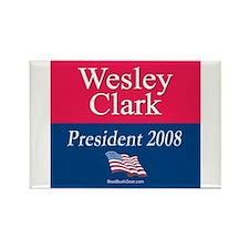 """Wesley Clark President"" Rectangle Magnet"