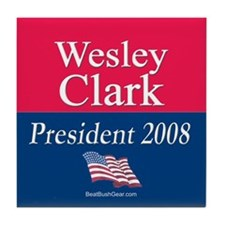 """Wesley Clark President"" Tile Coaster"