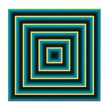 Decorative Squares Tile Coaster
