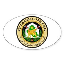 Iraq Force Oval Decal
