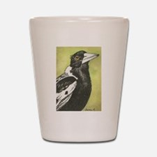 Australian Magpie Shot Glass