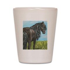 FRIESIAN HORSE PAINTING Shot Glass