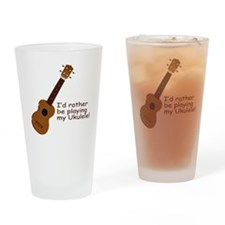 Ukulele Design Pint Glass