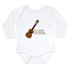 Ukulele Design Long Sleeve Infant Bodysuit