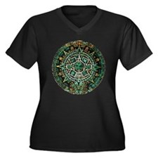 2012 Women's Plus Size V-Neck Dark T-Shirt