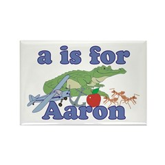 A is for Aaron Rectangle Magnet