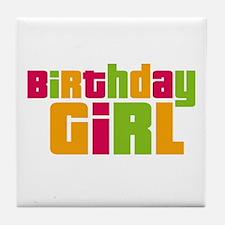 Birthday Girl Tile Coaster