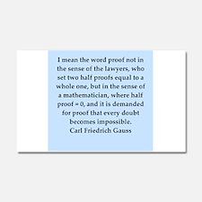 Carl Friedrich Gauss quote Car Magnet 12 x 20