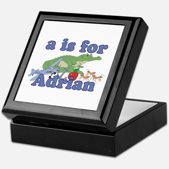 A is for Adrian Keepsake Box