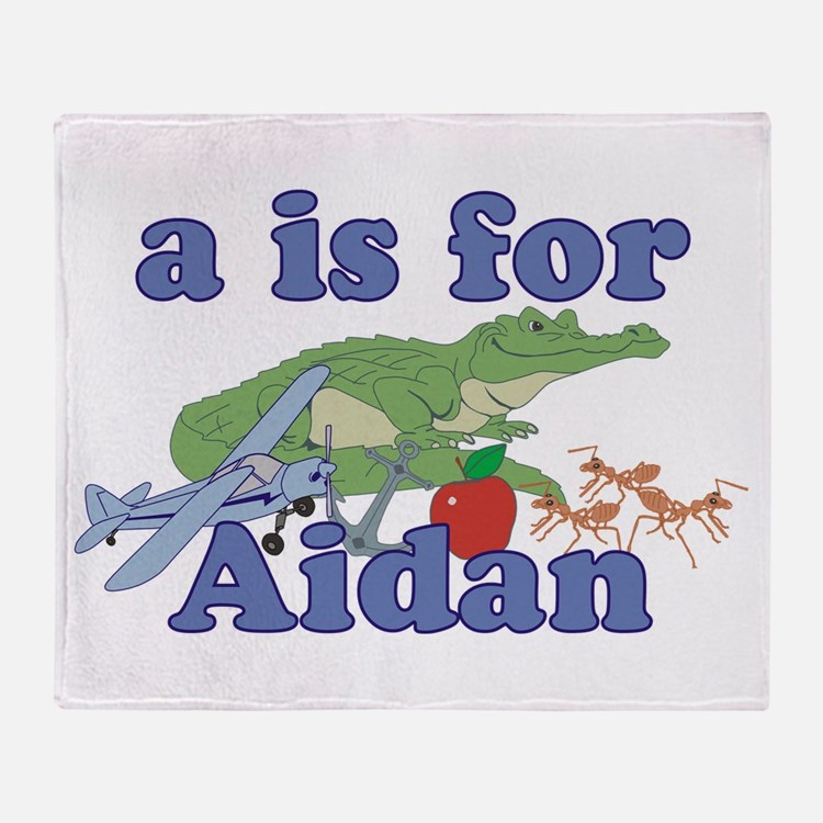 A is for Aidan Throw Blanket