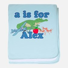 A is for Alex baby blanket