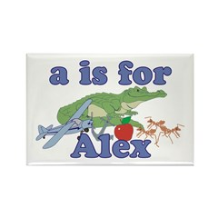 A is for Alex Rectangle Magnet (10 pack)