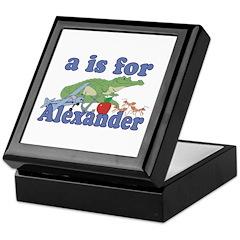 A is for Alexander Keepsake Box