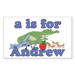 A is for Andrew Sticker (Rectangle 50 pk)