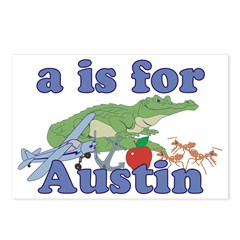 A is for Austin Postcards (Package of 8)