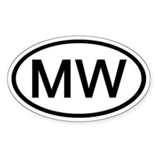MW - Initial Oval Oval Decal