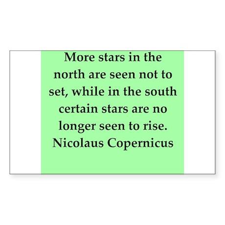 Nicolas Copernicus quotes Sticker (Rectangle)