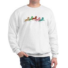 many leaping horses Sweater