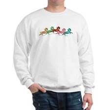 many leaping horses Sweatshirt